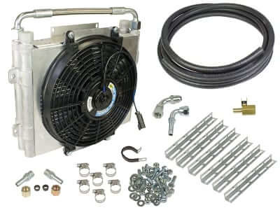1994-2015 Dodge Xtrude Double Stacked Transmission Cooler Kit - Universial 1/2in Tubing BD 1030606-DS-12