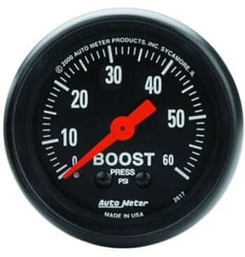 "2"" BOOST Gauge 0-60 PSI, MECH Z-SERIES"