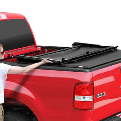 2008 - 2015 Ford F-250/F-350/F-450 Super Duty 8.0 Bed TruXedo® Deuce: First & Only Soft Roll-up, Hinged Tonneau Cover Combination TX 769601