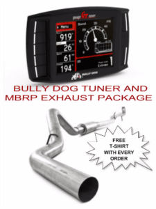 2011-2016 Ford Powerstroke 6.7L Bully Dog DPF Delete Tuner BUL 6.7L 40428 with a 2011-2015 Ford 4″ DP-Back, DPF Delete, No Bungs, Aluminized MBRP C6262P