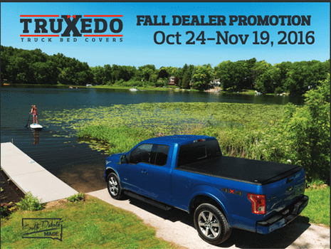 Truxedo consumer mail in rebate!!!! October 24th – November 19th 2016.