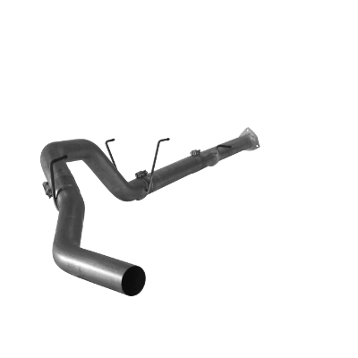 "2013-2017 Dodge 6.7L 2500/3500 RC-QC-MC/SB-LB-Dually 4"" Downpipe Back Single - Leaf Spring or Coil Spring; No Muffler, No Bungs FLO 1873"