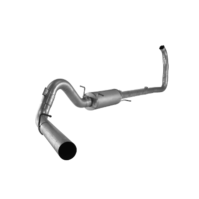 """2003-2005 Ford 4"""" Turbo Back Single Systems Excursion, Race Exhaust Automatic Only FLO 817"""