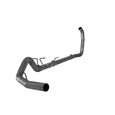 """2003-2007 Ford 4"""" Turbo Back Single Systems F-250/350/Harley, Race Exhaust No Muffler FLO 824NM"""