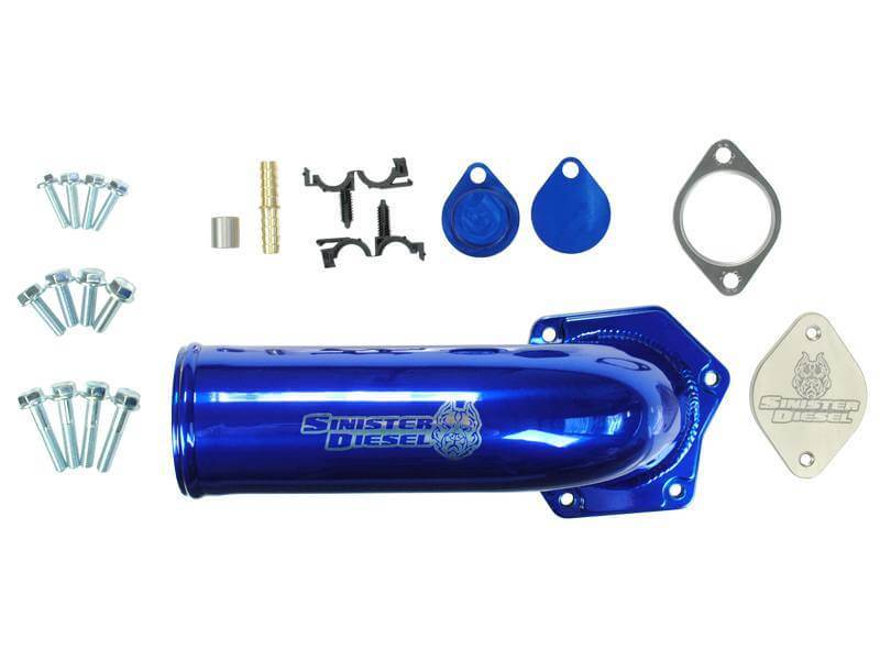 2008-2010 6 4L Powerstroke Sinister Diesel Complete EGR Valve/ Cooler  Delete Kit with High Flow Intake Elbow SD-EGRD-6 4-IE