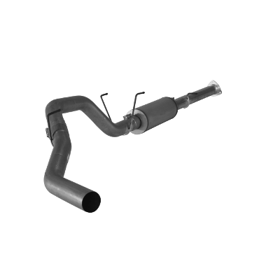 """2013-2017 Dodge 4"""" Downpipe Back Single - 2500/3500, Pickup Leaf Spring or Coil Spring RC-QC-MC/SB-LB-Dually, With Muffler, No Bungs FLO SS1874"""