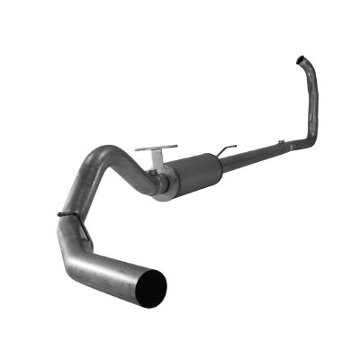 """2003-2007 Ford 4"""" Turbo Back Single Systems F-250/350/Harley, Race Exhaust Automatic Only, EC-CC/SB-LB-Dually FLO SS824"""