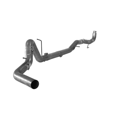 """2011-2015 Chev/GMC Stainless Steel 4"""" Down-pipe Back Exhaust no muffler 2500/3500, LML, Race Exhaust FLO SS864NM"""