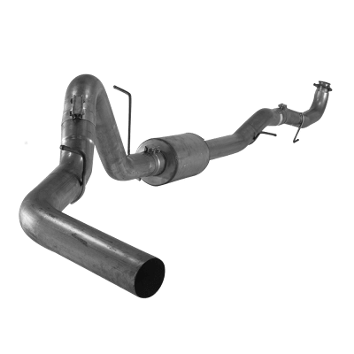 """2015.5-2016 Chev 4"""" Downpipe Back Single (Stainless) with muffler 2500/3500, LML, Race Exhaust, w/ OEM Flange EC-CC/SB-LB-Dually FLO SS871"""