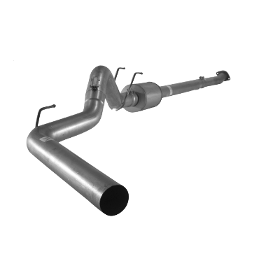 "2011-2017 Ford 6.7L 4"" Downpipe Back Single F350/F450/F550, Cab & Chassis No Bungs, With Muffler FLO SS877"
