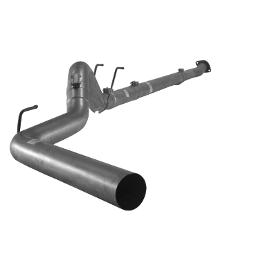 "2011-2017 Ford 6.7L 4"" Downpipe Back Single F350/F450/F550, Cab & Chassis No Bungs, No Muffler FLO SS877NM"