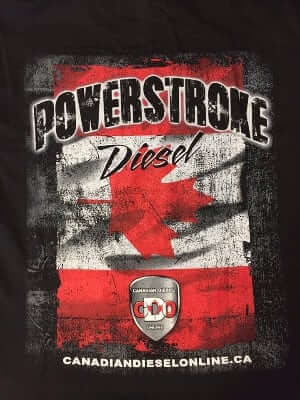 Womens Canadian Diesel Online Powerstroke V-Neck T-Shirt CP504L