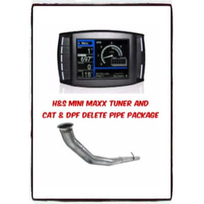 2007.5-2012 Dodge Mini Maxx Tuner and CAT & DPF Delete Pipe Package D6.7L7009P