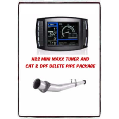 2011-2014 Ford Mini Maxx Tuner and CAT &DPF Delete Pipe Package F6.7L7009P