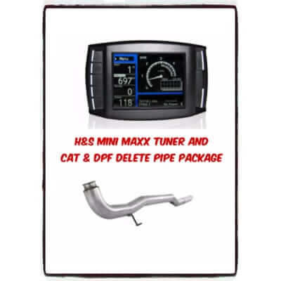 2011-2014 Chev Mini Maxx Tuner and CAT & DPF Delete Pipe Package LML6.6L7009P