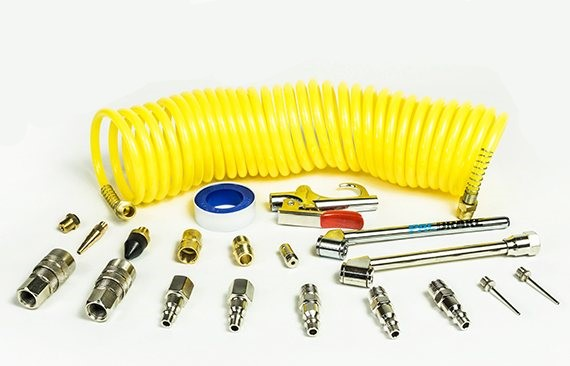 Air Tank Curly Hose and Accessory Kit 25 Foot Hose Pacbrake – C11657